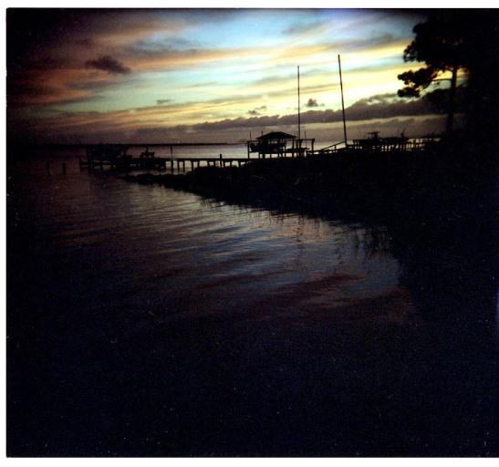 Sunset on Bogue Sound - Holga Photo