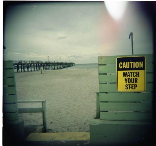 Watch Your Step - Oceanna Pier - Atlantic Beach by Andei
