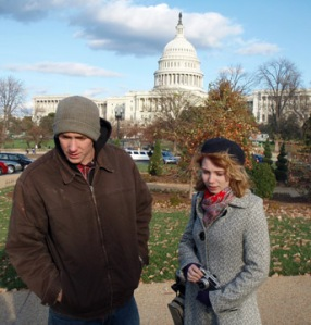 Adam and Andei with Capitol in Background