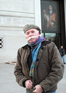 Dad in front of National Gallery