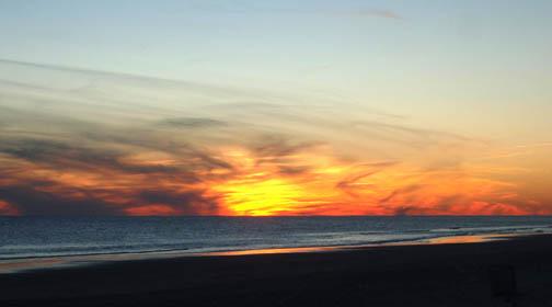 Atlantic Beach Sunset 1/2/09