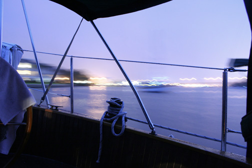 View from Sailboat at Dusk Andei Keough 1/09