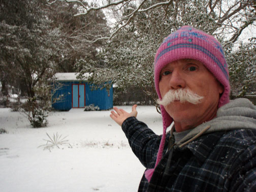 Self Portrait in Snow and Pink Taboggan