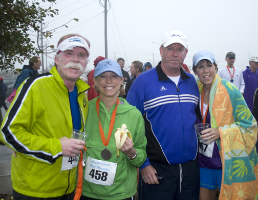 After the Race - Wet, Tired and Cold (Myself, Laurie, Tim and Susan)