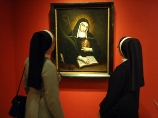 Two Nuns Looking at a Painting of a Nun - Dallas Museum of Art