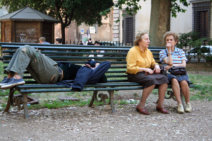 Park Bench in Rome by Andei Keough