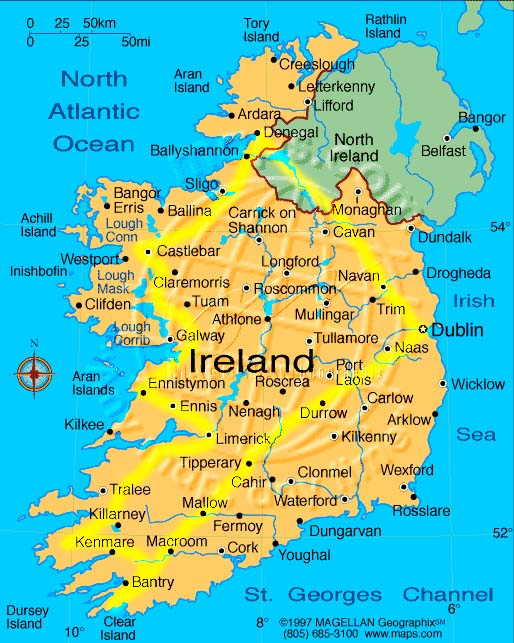 Dublin - Tipparary - Beara - Castletownbere - Dingle - Galway - Donegal - to Dublin in 10 Days