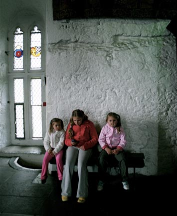 Kids Resting at Bunratty Castle, Photo by Andei