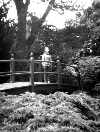 Andei Standing on Bridge at Japanese Gardens, Ireland - Love the Light on Her