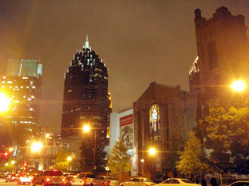 Peachtree Street at Night, Atlanta