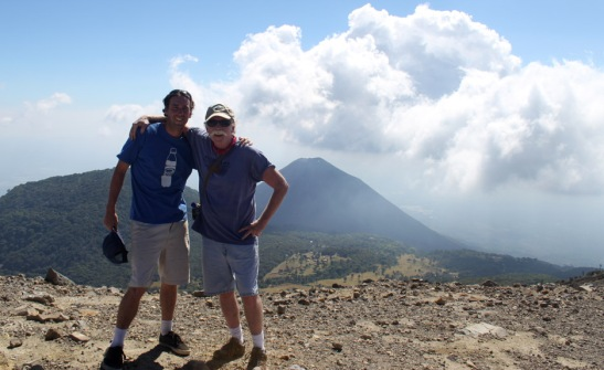 Adam and I at the Top of Santa Anna Volcano