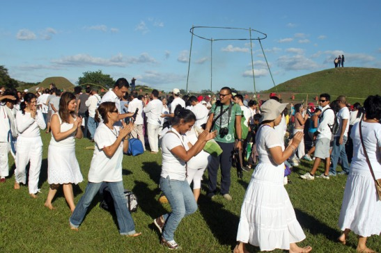 Dance Procession to Drum Beat @ San Andres site.