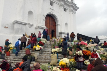 Church Steps at Market in Panajachel
