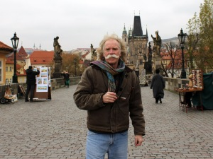 Standing on St. Charles Bridge