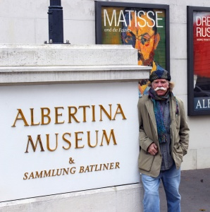Standing in Front of Albertina Museum, Vienna