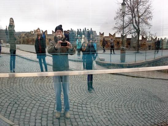 Window Reflection in Prague
