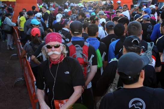 Starting gate for Volcano Run in El Salvador