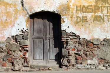 Door and Old Wall - Antigua, Guatemala by Patrick Keough