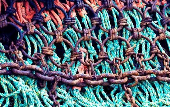 Net and Chain textures by Karen Mault 2nd Place