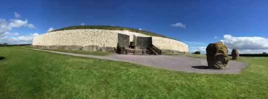 Newgrange panoramic photo by Adam Keough