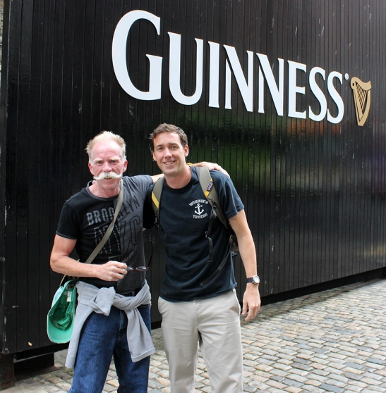 Adam and I outside Guinness Brewery.